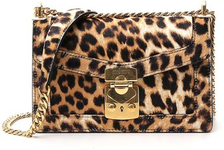 Miu Miu Leopard Print Shoulder Bag