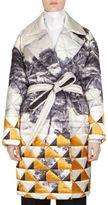 Dries Van Noten Quilted Tie-Waist Wrap Coat