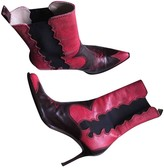 Christian Dior Brown Python Ankle boots