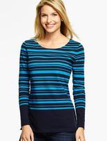 Talbots Heavyweight Long-Sleeve Knit Jersey Top - Marion Stripe