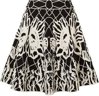 Alexander McQueen Flared Jacquard-knit Mini Skirt