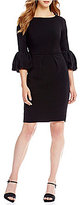 Laundry by Shelli Segal 3/4 Bell Sleeve Sheath Dress