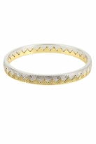 House Of Harlow Engraved Triangle Bangle Set in Yellow Gold & Silver