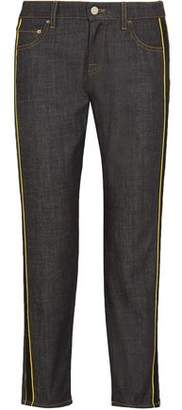 Victoria Victoria Beckham Victoria, Victoria Beckham Piped Cropped High-rise Tapered Jeans