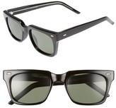 Spitfire Women's Lovejoy Rectangular Sunglasses - Black/ Black