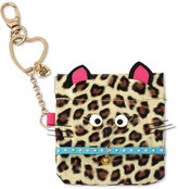 Betsey Johnson Gold-Tone Brown Cat Pouch Keychain