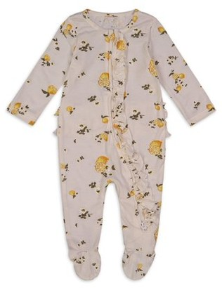 Jessica Simpson Newborn Baby Girls Floral Sleep 'N Play Footed Pajamas (0/3M-6/9M)