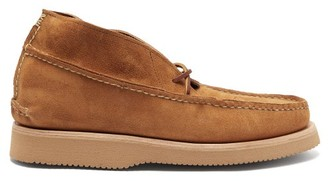 Yuketen All Handsewn Maine Guide Chukka Suede Desert Boots - Mens - Brown