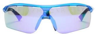 Stella McCartney Turbo Reflective-lens Sunglasses - Blue