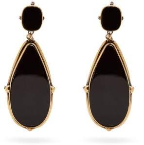 Alexander McQueen Skull Resin Drop Earrings - Womens - Black
