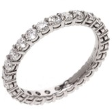 Tiffany & Co. 950 Platinum Full Circle Diamond Ring Size 4