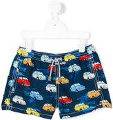 Mc2 Saint Barth Kids - Voiaga car swim shorts - kids - Polyester/Spandex/Elastane - 6 yrs