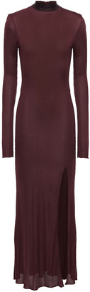 Nanushka Hebe Jacquard-trimmed Ribbed Jersey Maxi Dress