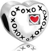 Pugster Red Heart Xoxo Hugs Kisses Love Lover Charm Bead