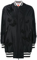Valentino butterfly embroidered bomber jacket - women - Silk/Polyamide/Polyester/Viscose - 40