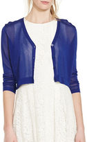 Lauren Ralph Lauren Three-Quarter-Sleeve V-Neck Cropped Cardigan
