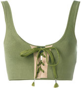 Fenty X Puma - lacing bra - women - Cotton/Nylon/Spandex/Elastane - XS