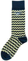 For Bare Feet Pittsburgh Penguins Chevron Striped Socks