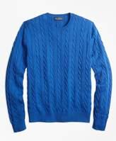 Brooks Brothers Supima Cotton Cable Crewneck Sweater