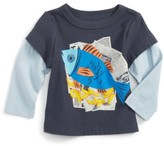 Tea Collection Infant Boy's Fish & Chips Graphic T-Shirt