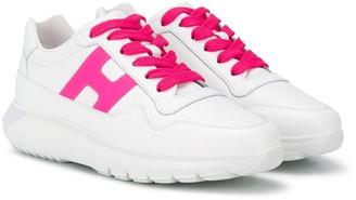 Hogan Contrasting Logo Sneakers