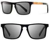 Shwood Men's 'Govy' 52Mm Wood Sunglasses - Black/ Maple/ Grey