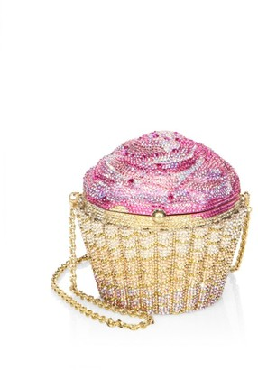 Judith Leiber Couture Strawberry Cupcake Crystal Clutch
