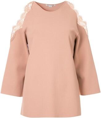 Stella McCartney cold-shoulder knitted top