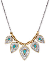 Lucky Brand Two-Tone Blue-Stone Statement Necklace