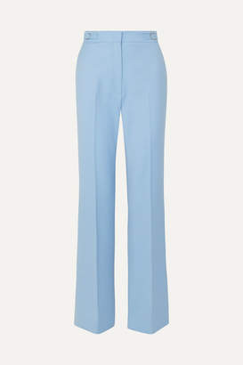 Gabriela Hearst Vesta Wool-blend Wide-leg Pants - Blue