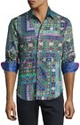 robert graham garland longsleeve sport shirt green