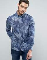 Wrangler Palm Print Shirt Regular Fit