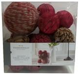 Threshold Decorative Balls Vase Filler Red/Natural