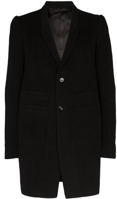 Rick Owens Single-Breasted Mid-Length Coat