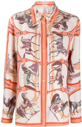 Hermes Pre Owned 2000s Chevaux Arabes print shirt