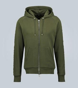 Balmain Zipped cotton sweatshirt