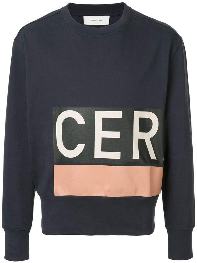 Cerruti logo print sweatshirt