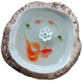 "Handmade porcelain incense coil Resin 3D stereoscopic lotus censer line ""goldfish"""