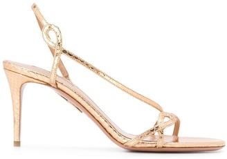 Aquazzura Serpentine 85mm slingback sandals