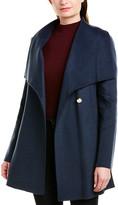 Laundry by Shelli Segal Asymmetrical Wrap Wool-Blend Coat