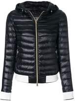 Herno contrast trim puffer jacket