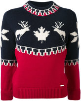 DSQUARED2 fairisle raindeer intarsia sweater - women - Polyamide/Wool/Alpaca - XS