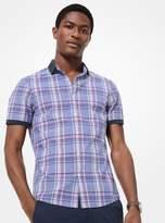 Michael Kors Slim-Fit Plaid Cotton Short-Sleeve Shirt