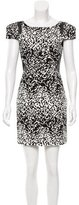 Tibi Animal Print Sheath Dress