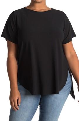 Halogen Short Sleeve Split Hem Tunic T-Shirt