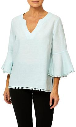 PINGPONG Bell Sleeve Linen Top