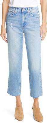 TRAVE Vivienne Raw Hem Crop Straight Leg Jeans
