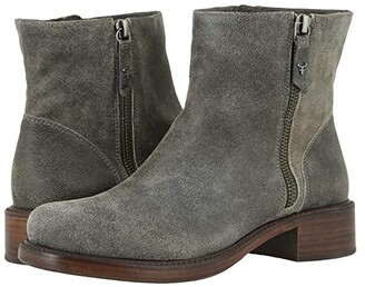 Trask Brylee (Gray Distressed Italian Suede) Women's Boots
