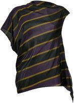 08sircus striped asymmetric blouse - women - Cupro - 0