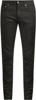 Alexander McQueen Coated-denim skinny jeans